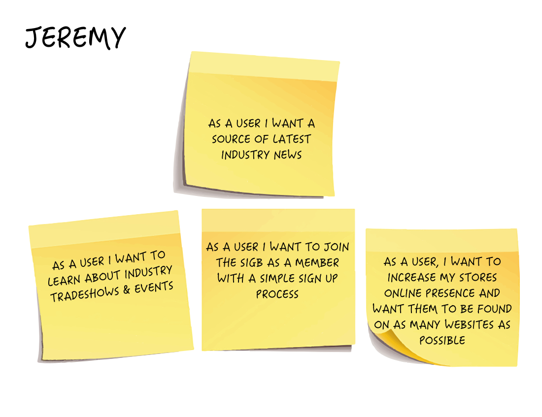 User Story - Jeremy
