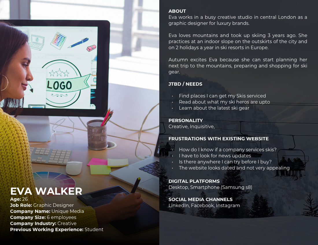 SIGB User Persona - Eva Walker