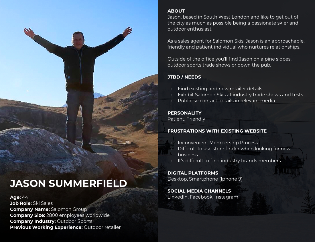 SIGB User Persona - Jason Summerfield